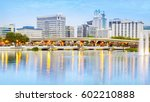 downtown orlando skyline.... | Shutterstock . vector #602210888
