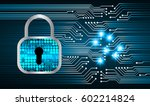safety concept  closed padlock... | Shutterstock .eps vector #602214824