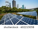 solar panels in the city | Shutterstock . vector #602215058