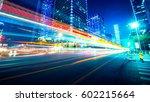 traffic through the modern city | Shutterstock . vector #602215664