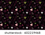 abstract pattern on a black... | Shutterstock . vector #602219468