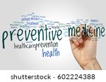 preventive medicine word cloud... | Shutterstock . vector #602224388
