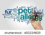 pet allergy word cloud concept... | Shutterstock . vector #602224820