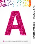 bright letter a from the... | Shutterstock .eps vector #60222571