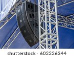 concert sound system on metal... | Shutterstock . vector #602226344