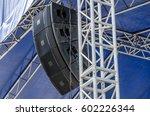 concert sound system on metal...   Shutterstock . vector #602226344