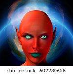The Face Of Female Alien....
