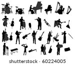 musician and musical instrument | Shutterstock .eps vector #60224005
