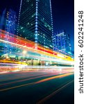 traffic through the modern city | Shutterstock . vector #602241248