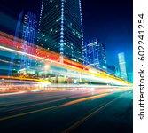 traffic through the modern city | Shutterstock . vector #602241254