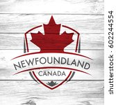 a canadian province crest on a... | Shutterstock . vector #602244554