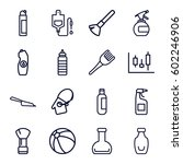 plastic icons set. set of 16... | Shutterstock .eps vector #602246906