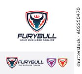 fury bull  vector logo template | Shutterstock .eps vector #602250470
