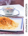 shrimp roe noodles | Shutterstock . vector #602252606