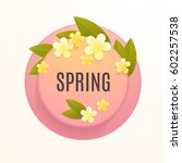 circle vector template with... | Shutterstock .eps vector #602257538