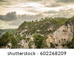 rocky mountains   tropical... | Shutterstock . vector #602268209