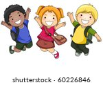 a small group of students... | Shutterstock .eps vector #60226846