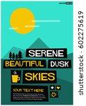serene beautiful dusk skies | Shutterstock .eps vector #602275619