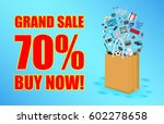grand sale with paper bag and... | Shutterstock .eps vector #602278658