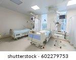modern equipped hospital room... | Shutterstock . vector #602279753