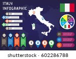 infographic of italy for your... | Shutterstock .eps vector #602286788