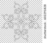 vintage baroque ornament retro... | Shutterstock .eps vector #602291828