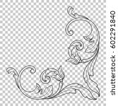 vintage baroque ornament retro... | Shutterstock .eps vector #602291840