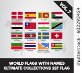 world flags with name. ultimate ... | Shutterstock .eps vector #602292434