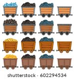 mining carts loaded with stone... | Shutterstock .eps vector #602294534