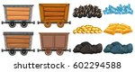 different stone and mining...   Shutterstock .eps vector #602294588