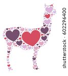 alpaca shape vector design... | Shutterstock .eps vector #602296400