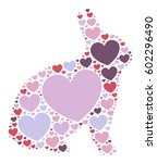 rabbit shape design vector... | Shutterstock .eps vector #602296490