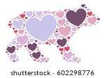 bear shape vector design... | Shutterstock .eps vector #602298776