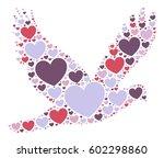 pigeon shape vector design... | Shutterstock .eps vector #602298860