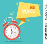 alarm clock with abstract... | Shutterstock .eps vector #602299718