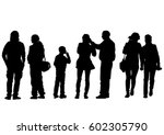 big crowds people on white...   Shutterstock .eps vector #602305790