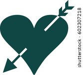 heart with arrow icon or symbol  | Shutterstock .eps vector #602307218