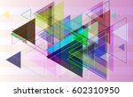 triangle pattern template | Shutterstock .eps vector #602310950
