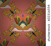 multicolor ornament of small... | Shutterstock .eps vector #602316554