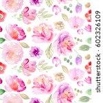 seamless watercolor pattern | Shutterstock . vector #602326109