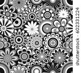 grey and white seamless vector... | Shutterstock .eps vector #602331224