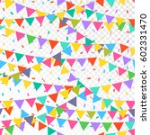 seamless pattern with colorful... | Shutterstock .eps vector #602331470