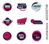 set of modern flat design sale... | Shutterstock .eps vector #602335748