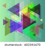 triangles pattern texture | Shutterstock .eps vector #602341670