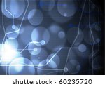computer motherboard on a blue... | Shutterstock . vector #60235720