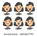 set of emoji character. cartoon ... | Shutterstock .eps vector #602361794