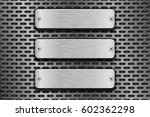 rectangular metal buttons. on... | Shutterstock .eps vector #602362298