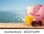 summer holiday vacation concept ... | Shutterstock . vector #602371694