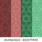 set of 4 vertical geometric... | Shutterstock .eps vector #602375543
