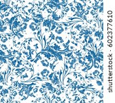 seamless repeating floral... | Shutterstock .eps vector #602377610